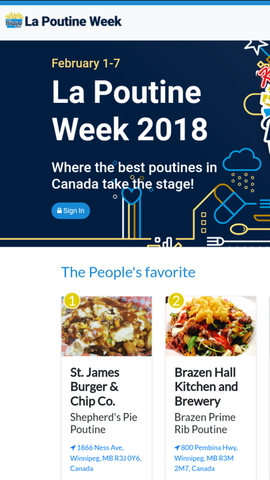 First Place 2018 La Poutine Week