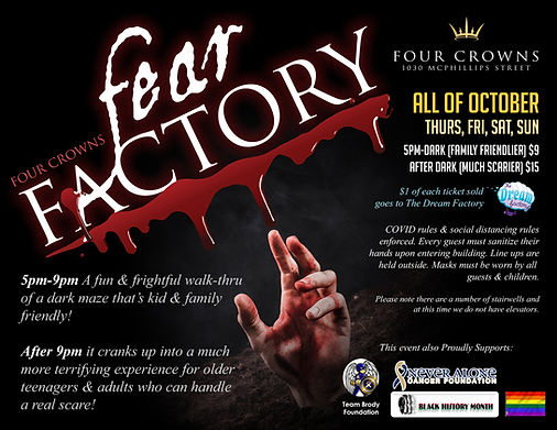 fear factory poster charties with addres