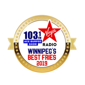 1st Place Winnipeg's Best Fries 2018 by Virgin Radio Award