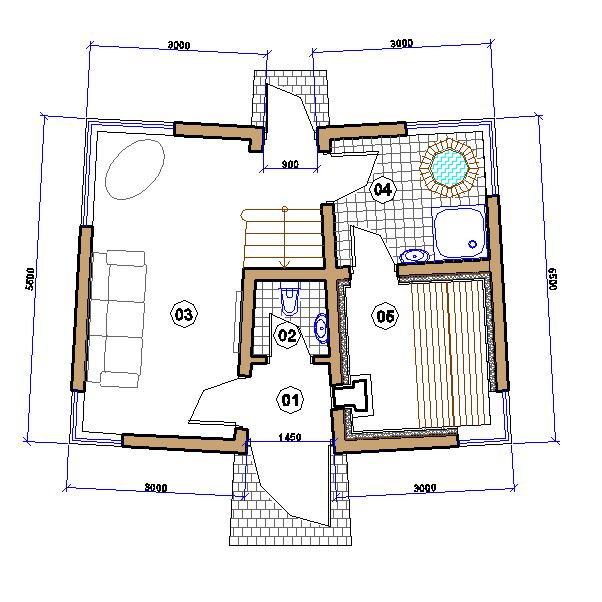 Сауна. План 1 этажа