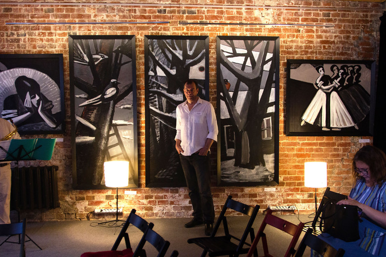 Art space. Exhibition of Painting and Graphics  «Jazz Mood», Moscow 06-26 June