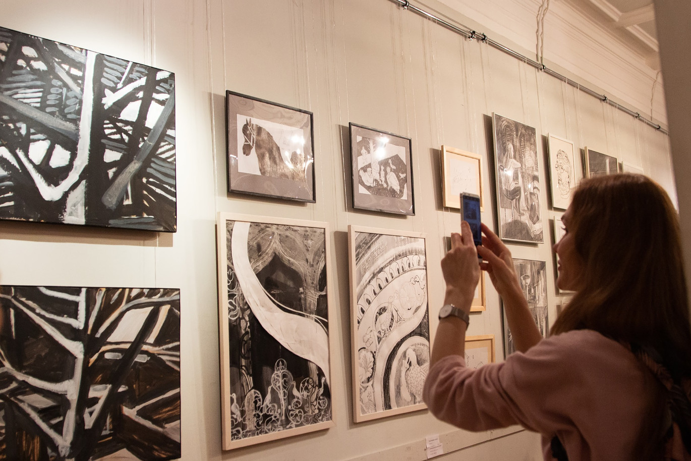 """Art exhibition """"Black-White"""" Union of Moscow Artists,   Moscow 22-28 December"""