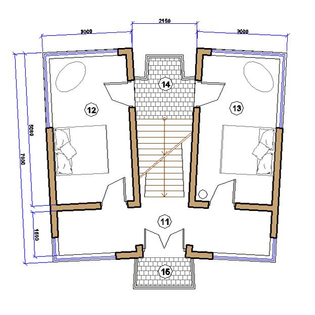 Сауна. План 2 этажа