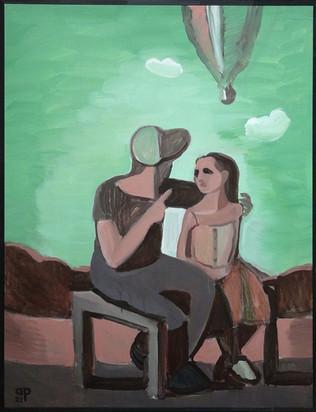 Acrylic on canvas, 100x130 cm (h) 2021.   4000 €