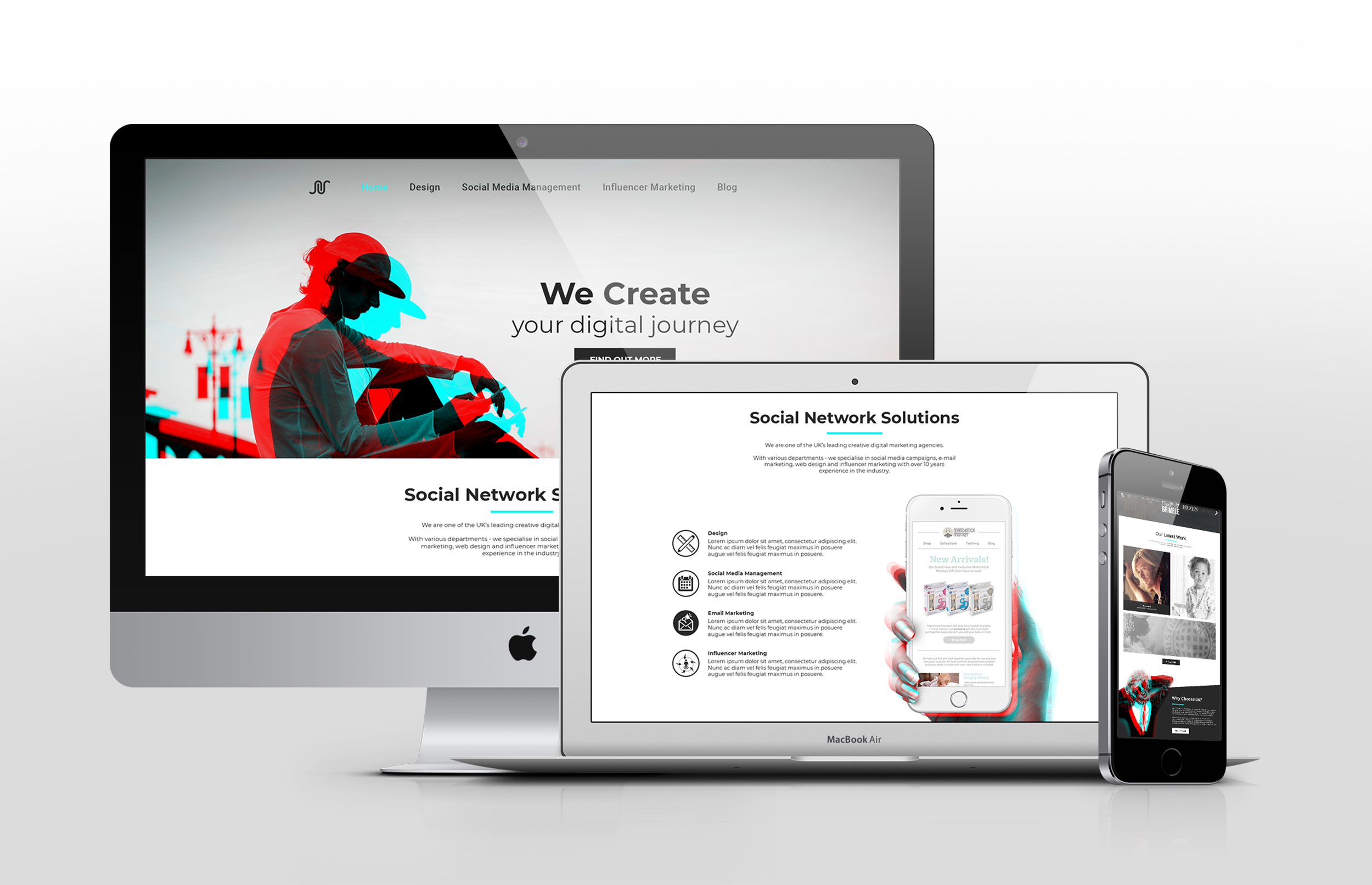SNS web design multiple devices