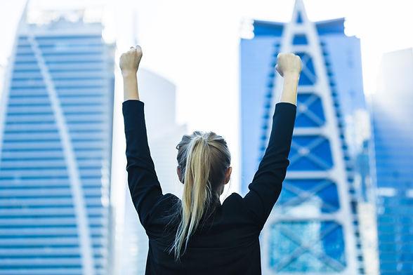 Business success - Celebrating businessw