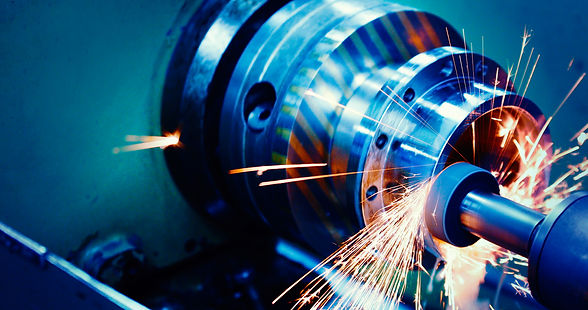 machine tool in metal factory with drill