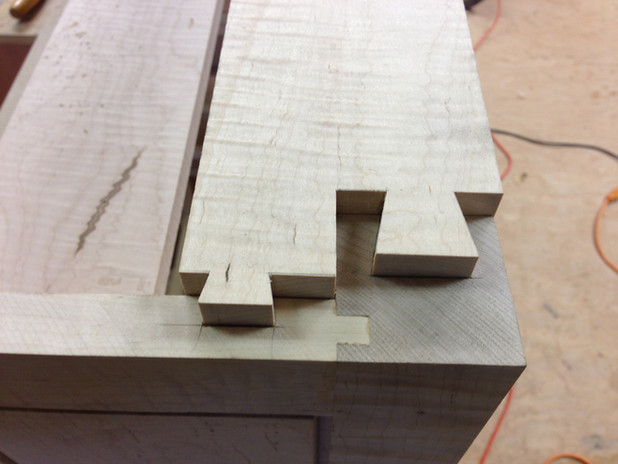 Stretcher joinery detail.