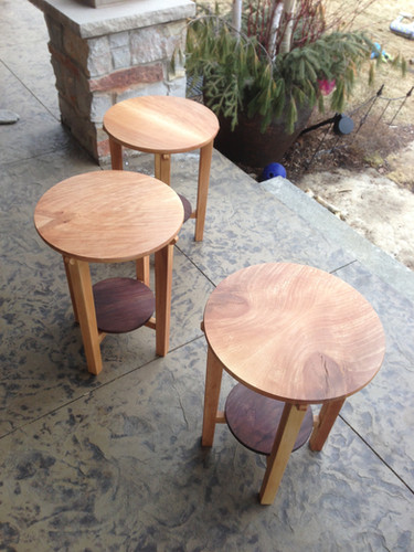 Bookmatched Accent Tables