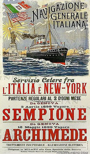 Poster of the Italian Line