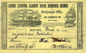 Transatlantic Steamship Ticket of 1859