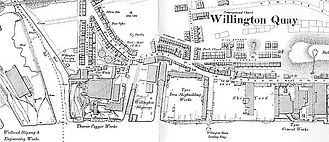 Palmer's Shipbuilding and Iron Company in Jarrow, a  Survey Map for 1897