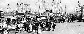 Late Nineteenth Century Saint Nazaire Harbour