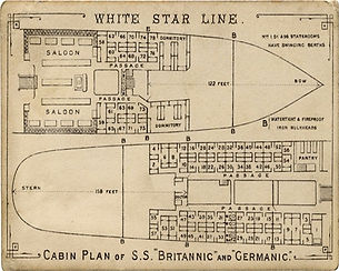 Cabin plans of SS Britannic and SS Germanic
