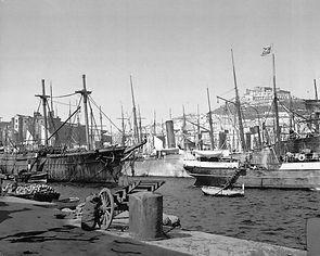 Naples Harbour in 1890s