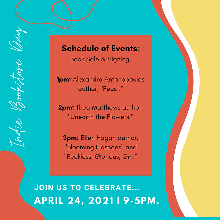 April 24, 2021: Independent Bookstore Day Celebration!