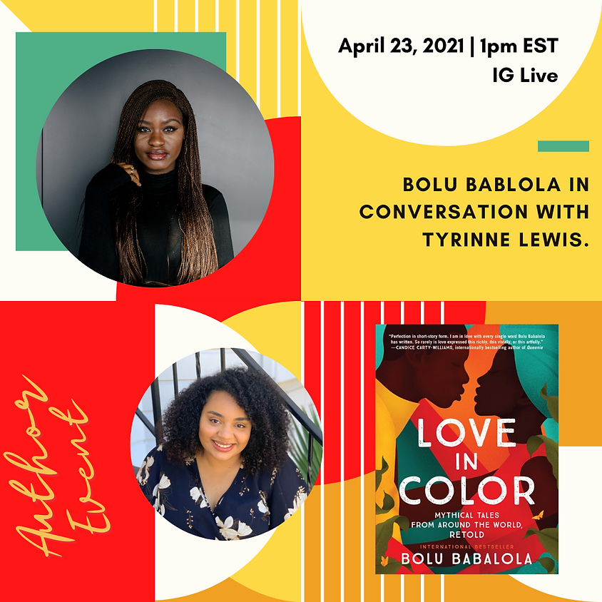 """Author Talk: """"Love in Color"""" with Bolu Babalola"""