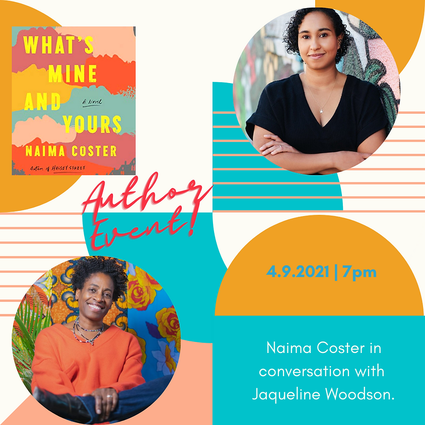 Author Event: What's Mine and Yours