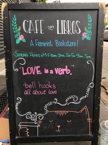 love is a verb. bell hooks