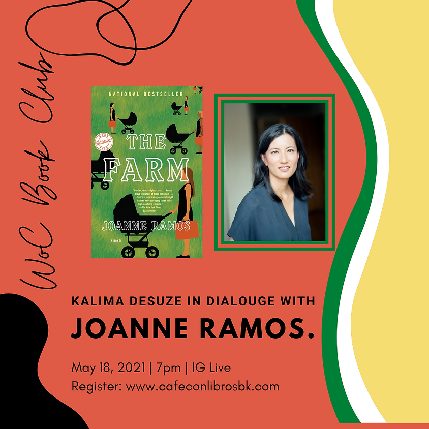"""Kalima DeSuze in Dialogue with Joanne Ramos, """"The Farm"""""""