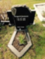Torgerð Joensen, gravsteinur, gravsteinar, gravsten, gravestone, føroysk framleiðsla, føroyskt, føroyar, faroe islands, fgv, føroya grótvirki, north atlantic basalt, basaltart, basalt, stone, rock, skopun
