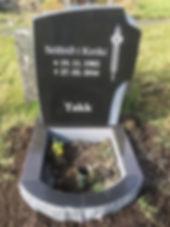 Sólfríð í Króki, gravsteinur, gravsteinar, gravsten, gravestone, føroysk framleiðsla, føroyskt, føroyar, faroe islands, fgv, føroya grótvirki, north atlantic basalt, basaltart, basalt, stone, rock, skopun