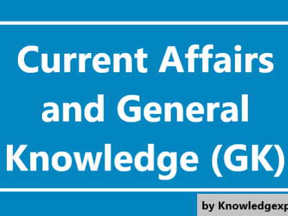 8 September 2020 - Current Affairs/General Knowledge(GK)