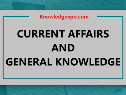03 October 2020 - Current Affairs/General Knowledge(GK)