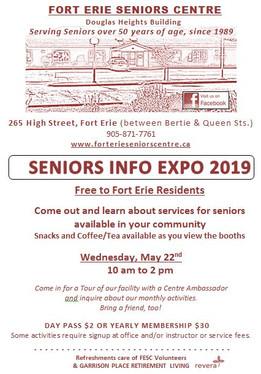 May 22, 2019 Seniors Info Expo