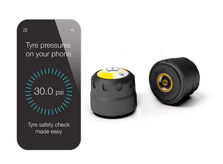 2-WiCap smart wireless tyre pressure monitoring system