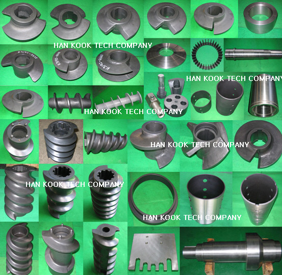 Feed screw extruder spare parts
