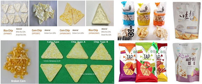 triangle puffed corn chips