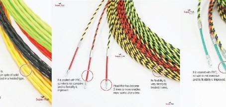 入線工具,通線工具,通線ワイヤー,スネークライン,ジョイント通線工具
