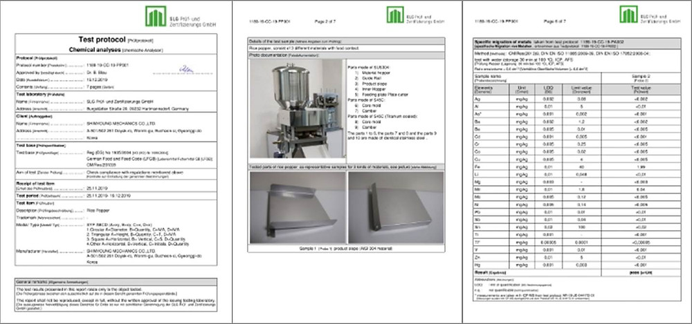 FCM (Food contact material) for SYP Rice Popper