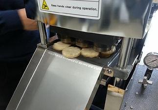Prueba de la máquina de la panadería