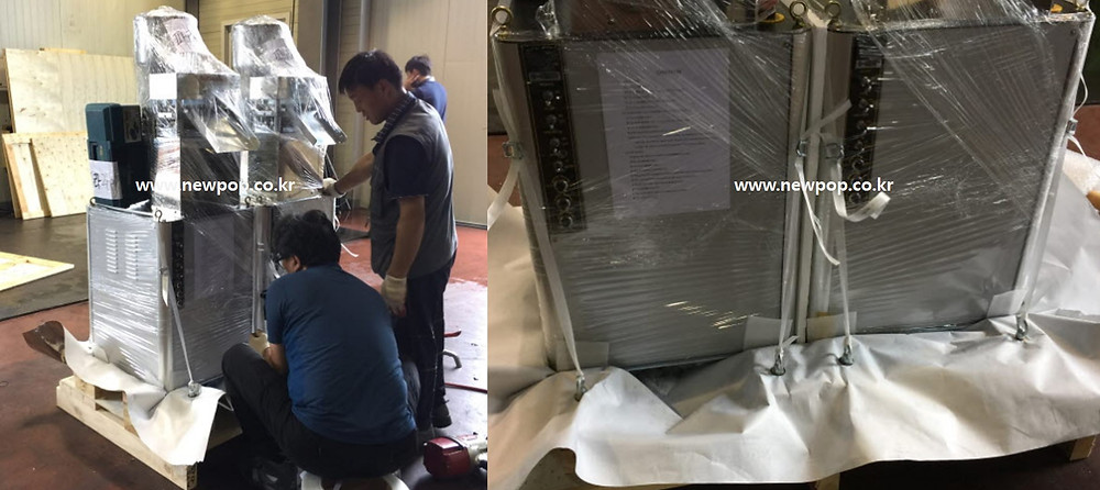 Packing of rice cake machine for shipping #1