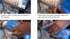 Manera fácil de empacar los pasteles de arroz.