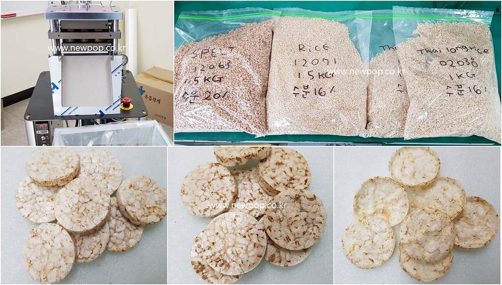 SYP4506 Grain Popper Test by Rice & Spelt