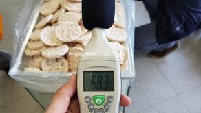 Prueba de nivel de ruido de SYP Tortitas de arroz máquina