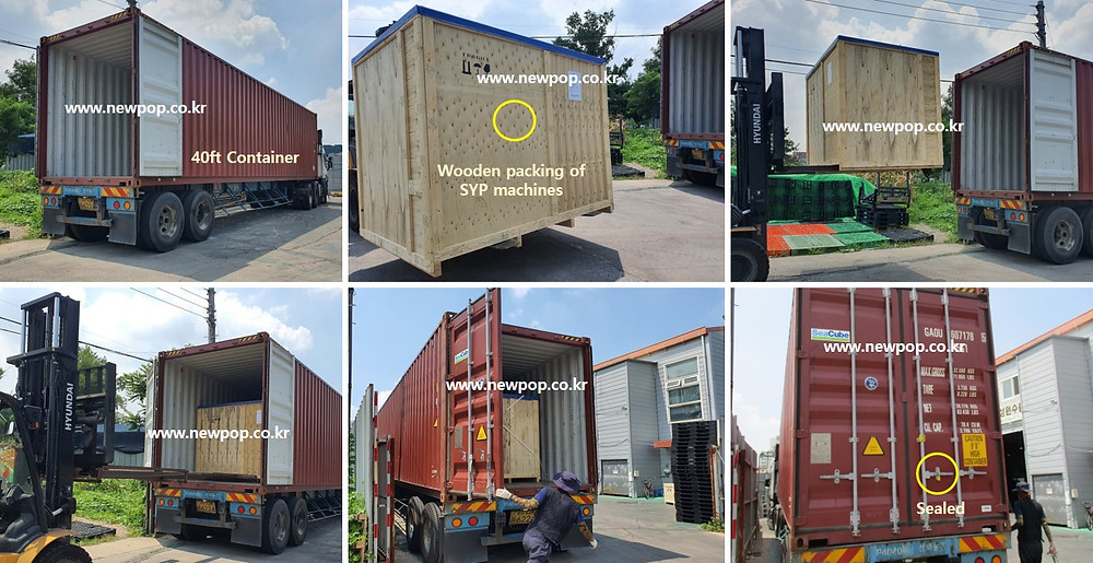 SYP Rice Poppers 40ft Container Loading