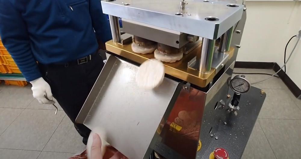Test video of SYP6804 Rice cake machine