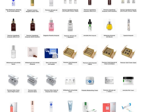 Skin Care Items by Private label services