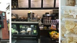 Pastel de arroz en forma de estrella de Starbucks