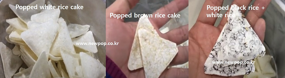 Popped triangle chips with Thailand rices
