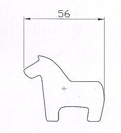 SYP horse 56mm Máquina de panadería