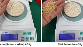 Cambio de peso por materia prima.