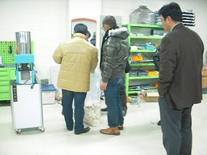 rice cake machine test by buyer