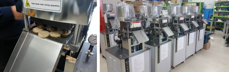Testing of rice cake machines