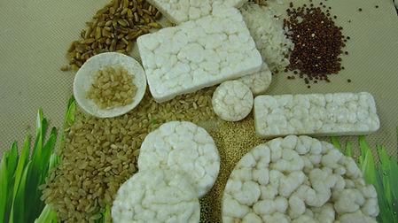 Tortas de arroz material