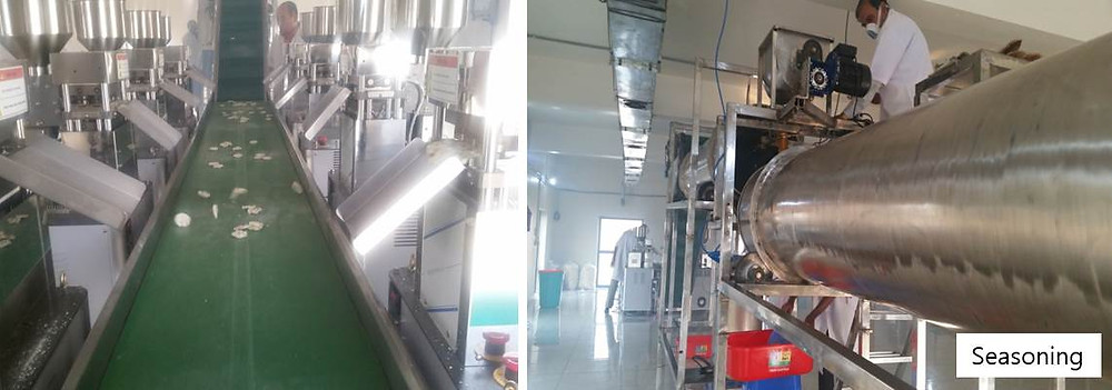 Producción de chips de arroz